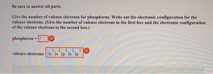 Number of valence electrons in phosphorus trichloride