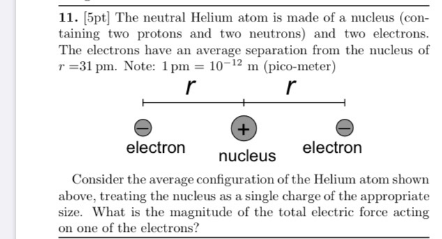 Helium electrons protons