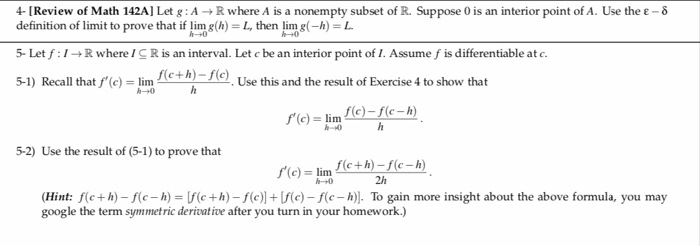 Solved: 4- [Review Of Math 142A] Let G: AR Where A Is A No