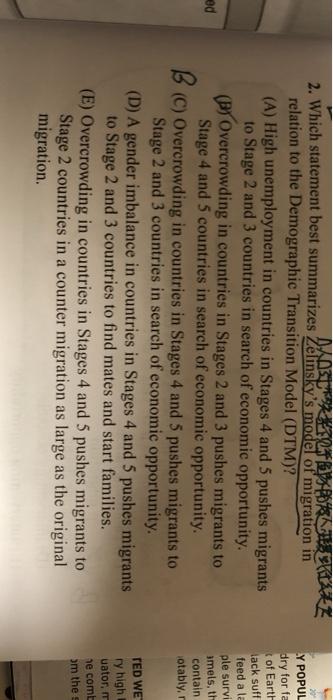 Solved 2 Which Statement Best Summarizes Zelinsky S Mode Chegg Com