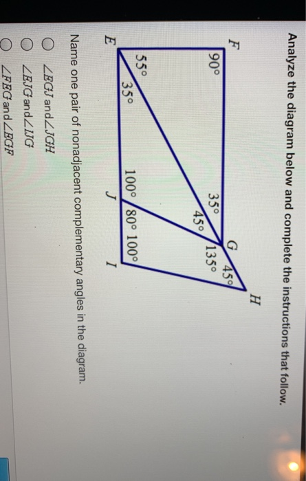 Analyze the diagram below and complete the instructions