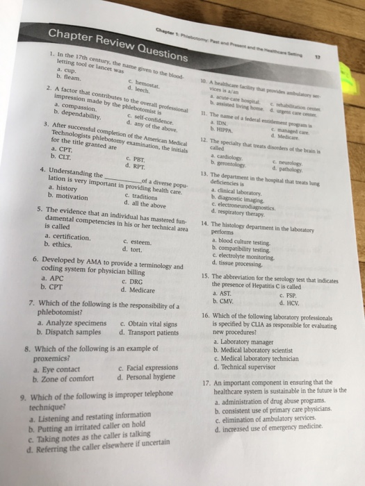 Solved: Chapter 1 Phbomy P Chapter Review Questions And P