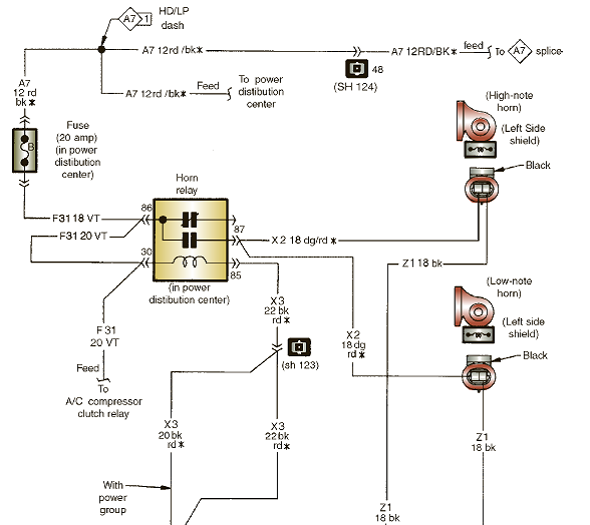 Solved: The horn circuit wiring diagram is being discussed.Tech... |  Chegg.comChegg