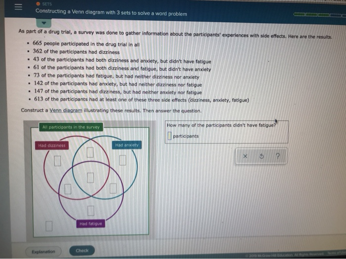 Solved Sets Constructing A Venn Diagram With 3 Sets To So Chegg Com
