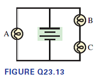 Solved: The three bulbs in Figure Q23.13 are identical ...