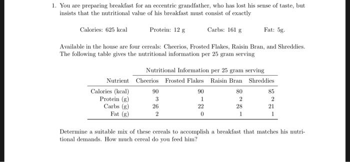 Solved: 1. You Are Preparing Breakfast