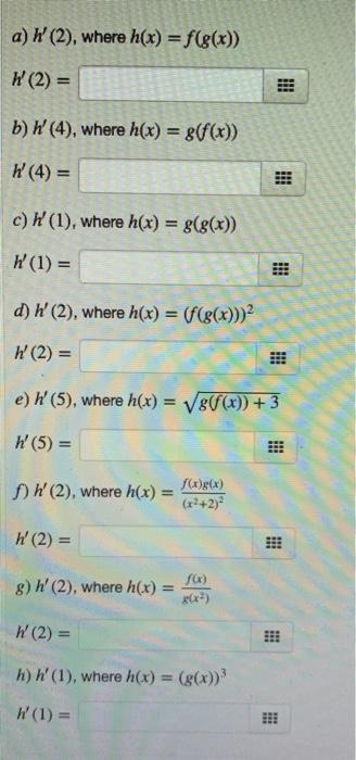 Solved 1 Point Using The Table Below Evaluate The Foll Chegg Com