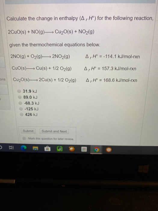 Solved: Calculate The Change In Enthalpy (Ar Hº) For The F ...