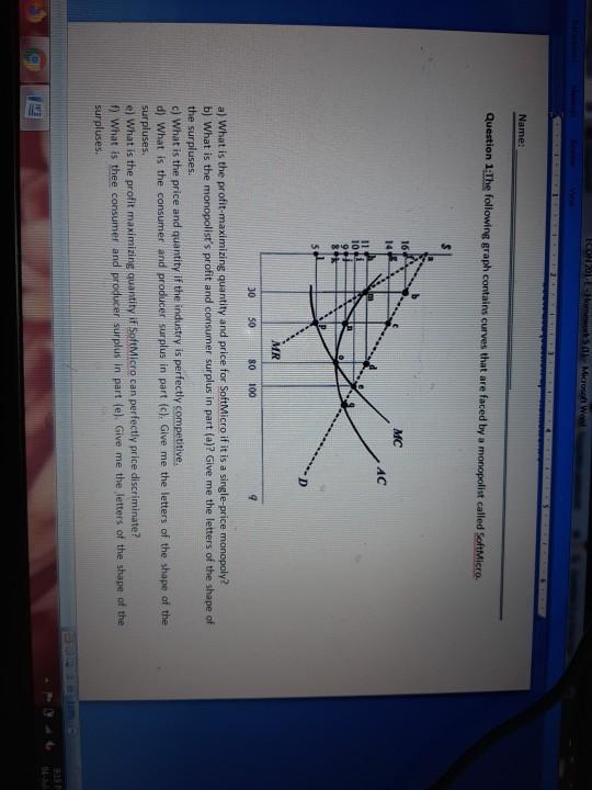 Solved Econ 201 T Homework 50 Microsoft Word Name Quest Chegg Com