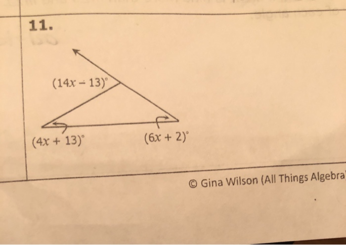 Solved: 11. (14x - 13) (4x + 13) (6x + 2) © Gina Wilson (A ...