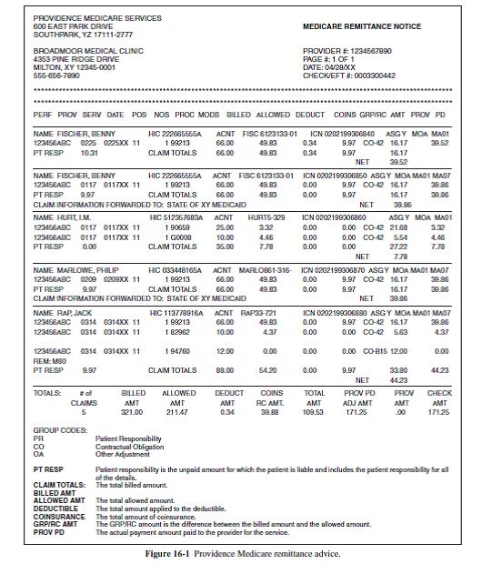 Study The Sample Remittance Advice Ra In Figure 16 1 Chegg Com