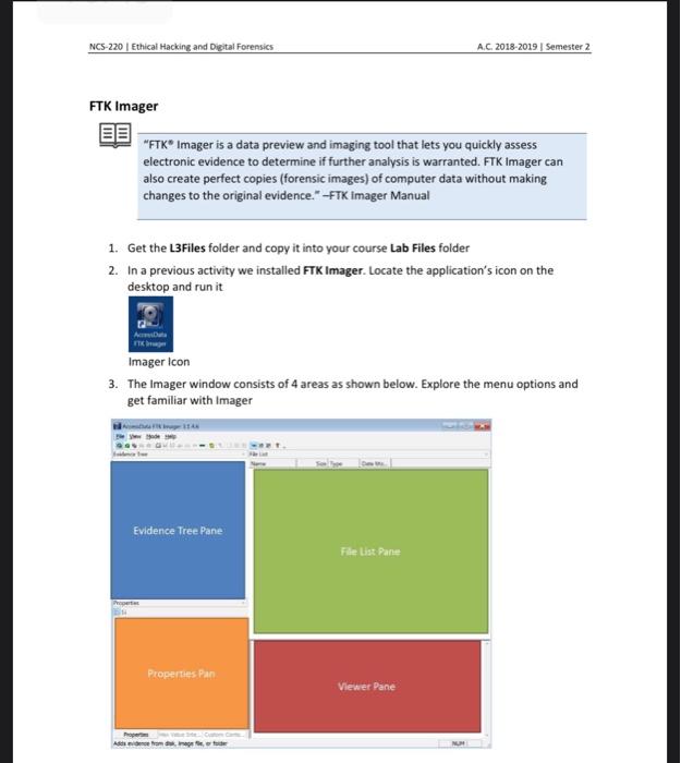 Solved Task 1 Basic Imaging Ftk Imager Task Objectives Chegg Com