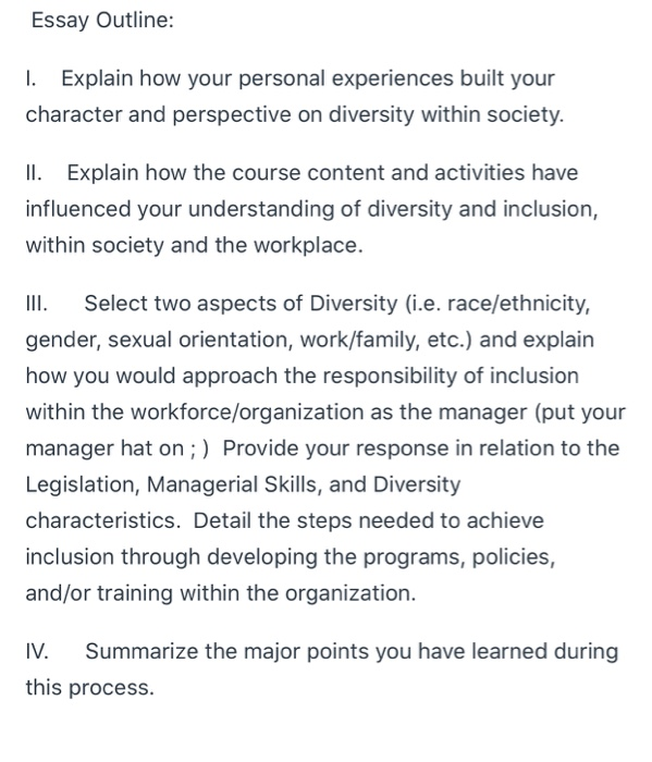 Diversity in the workplace essay outline fire safety literature review
