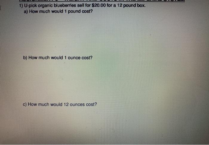 U Pick Organic Blueberries For
