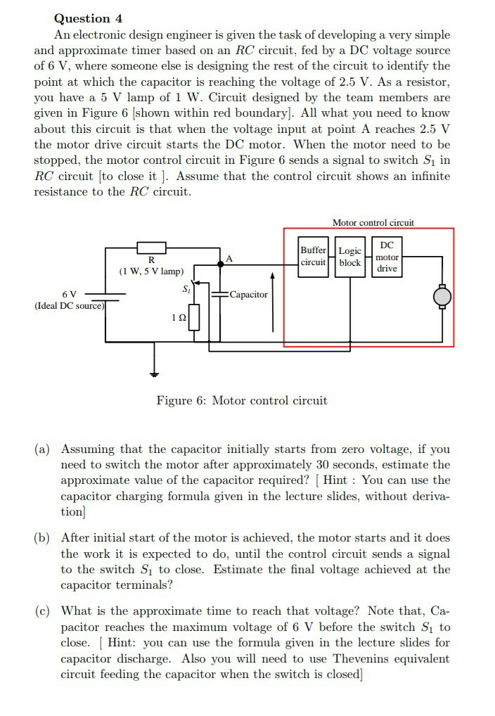 Solved Question 4 An Electronic Design Engineer Is Given Chegg Com