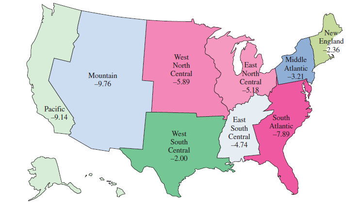 Solved: Housing Prices Exercises are based on the map b ...