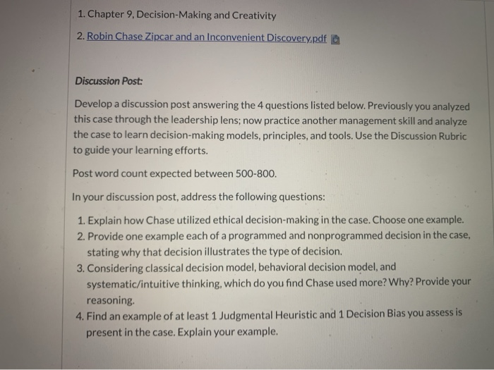 1  Chapter 9, Decision-Making And Creativity 2  Ro