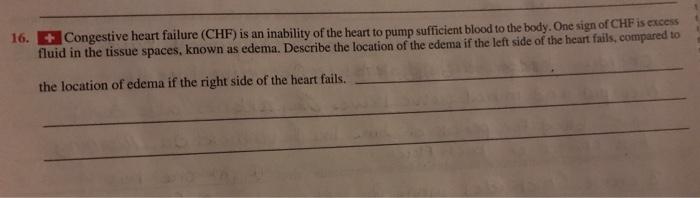 16 Congestive Heart Failure Chf