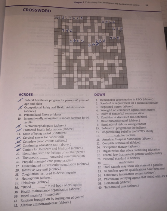 And crossword past present Past and