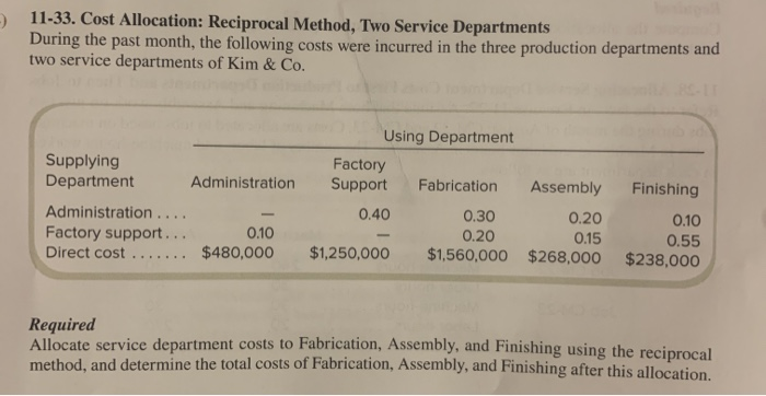 allocation of factory service department costs to the production departments is necessary to: