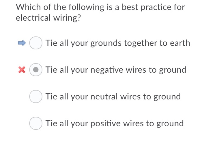 Solved: Which Of The Following Is A Best Practice For Elec ... on black is best, do is best, less is best,