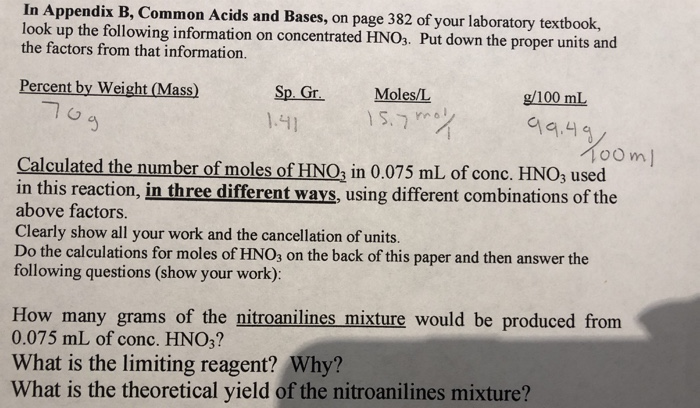 In Endix B Common Acids And Bases On Page 382 Chegg