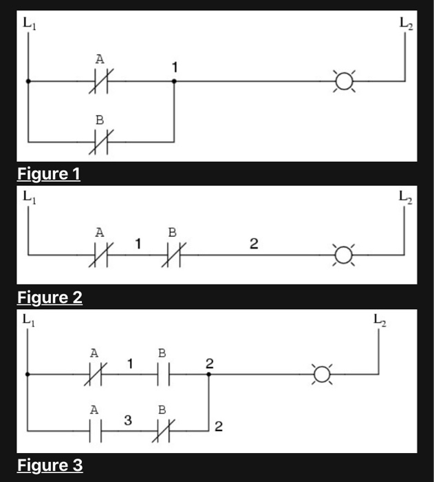 Solved For The Following Three Given Ladder Diagrams Dra Chegg Com