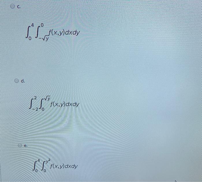 Soho f(x,y)dxdy vy d. f(x,y)dxdy e. f(x,y) dxdy