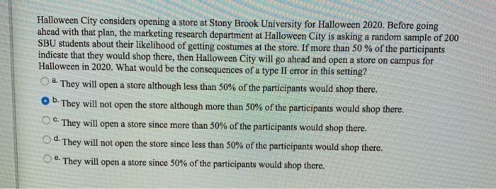 Stony Brook University Halloween 2020 Solved: Halloween City Considers Opening A Store At Stony