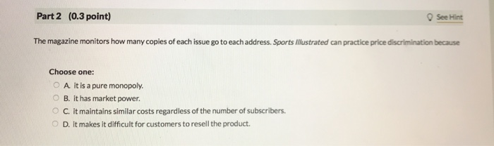 29 Question (1 Point) Sports Illustrated And Many
