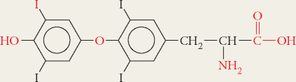 Solved 14 Identify Five Functional Groups In Thyroxine Thyroi Chegg Com