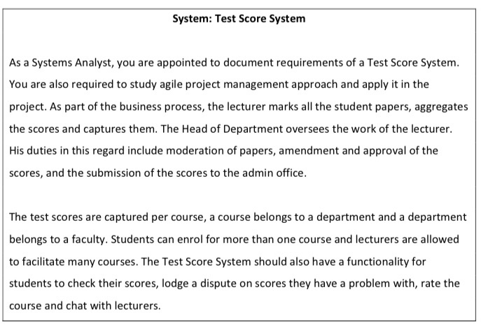 Solved The Question 2 Is The System Test Score Systemplea Chegg Com