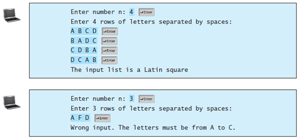 Solved Latin Square A Latin Square Is An N By N List Filled Chegg Com