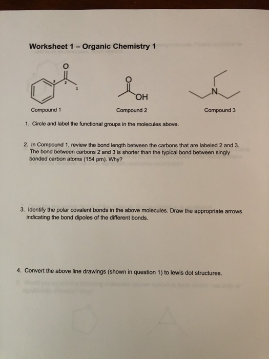 Worksheet of the chemistry carbon Carbon &