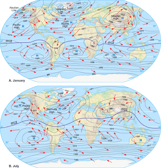 Solved: How are global winds related to surface ocean ...
