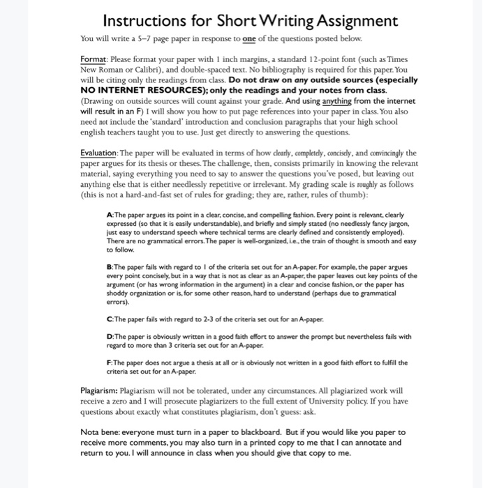 Write my assignment short answer question