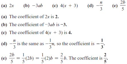 Solved Identify The Numerical Coefficient Of Each Term See Ex Chegg Com