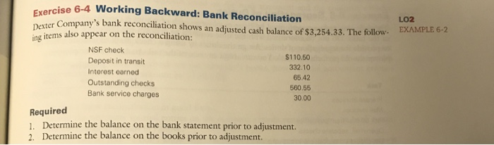 Solved: Exercises Rcise 6-3 Items On A Bank Reconciliation... | Chegg.com