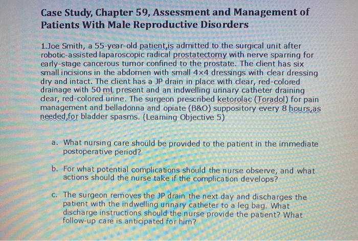 Solved Case Study Chapter 59 Assessment And Management