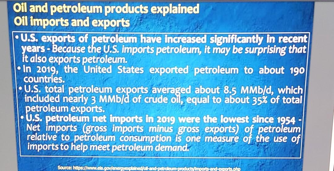 Oil and petroleum products explained Oil imports and exports U.S. exports of petroleum have increased significantly in recent