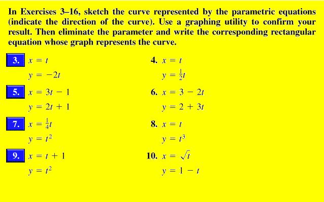 Solved Consider The Parametric Equations X 4 Cos2 Theta Chegg Com