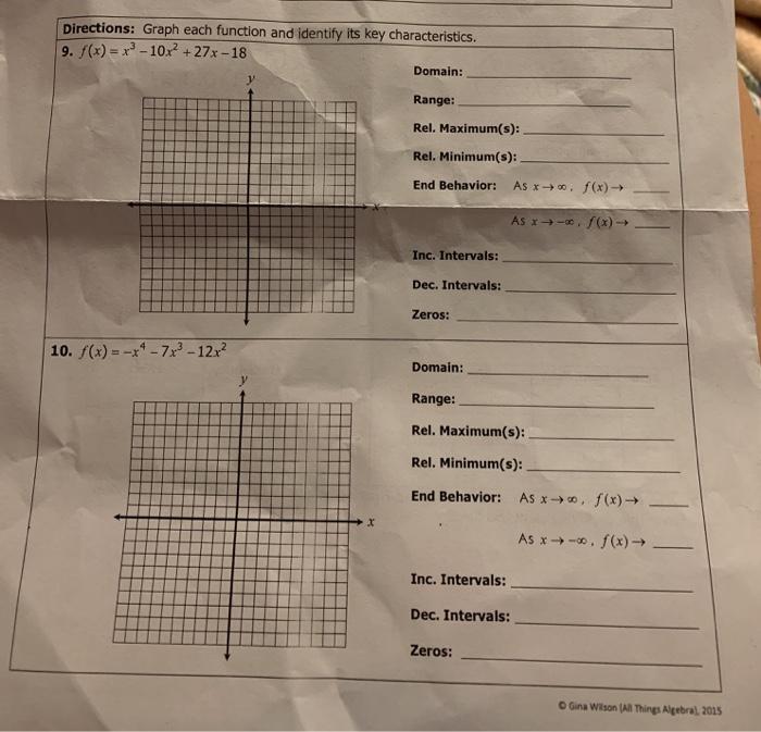 Gina Wilson All Things Algebra Answer Key 2015 : Gina ...