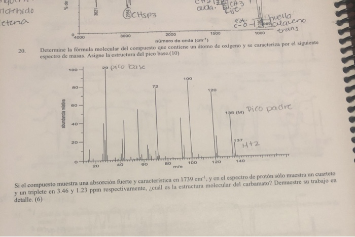 Solved Determine The Molecular Formula Of The Compound Th