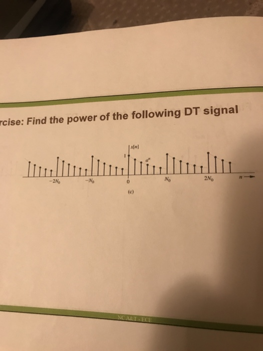 Solved: Rcise: Find The Power Of The Following DT Signal L... | Chegg.com