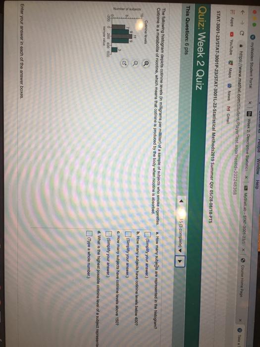 Solved: People Window Help Mywalden Student Portal X BeWee