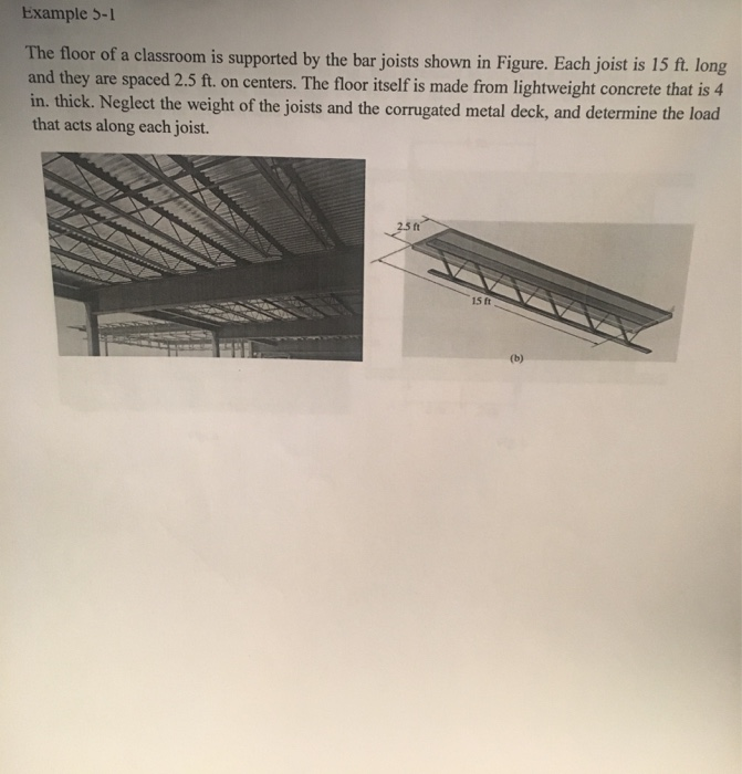 Solved: Example 5-1 The Floor Of A Classroom Is Supported