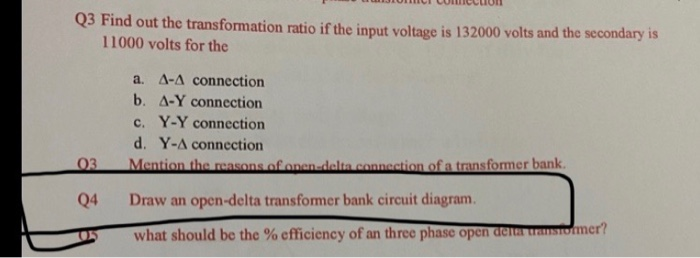 open delta transformer bank wiring diagram solved example 12 1 three single phase transformers are c  single phase transformers