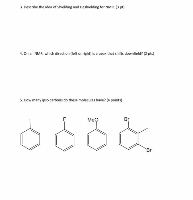 Solved 3 Describe The Idea Of Shielding And Deshielding