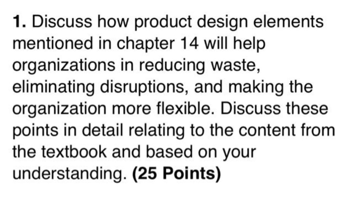 Solved 1 Discuss How Product Design Elements Mentioned I Chegg Com