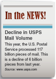 Solved: U.S. Postal Service Use the information in the news cli... |  Chegg.com